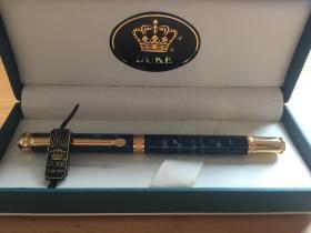 公爵DUKE 签字宝珠笔 金属签字签单签名笔 中性圆珠笔水笔芯宝珠笔 礼盒装