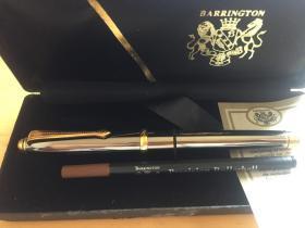 美国 Barrington百灵敦  亮铬金夹男士金属签字笔 商务宝珠笔 (企业定制)