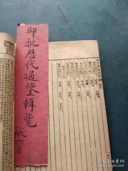 线装 (光绪三十一年) 袁了凡王凤洲纲鉴合编 16册全