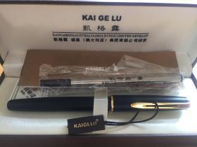 澳洲凯格露KAIGELU 袋鼠佐罗311黒亚光金夹 签字笔 宝珠笔 水笔 礼盒装