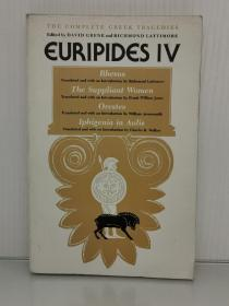 芝加哥大学版   欧里庇得斯戏剧四部   Euripides IV :Rhesus /The Suppliant Women / Orestes / Iphigenia in Aulis (The University of Chicago Press 1958年版)(古希腊戏剧)英文版