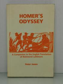 Homers Odyssey: A Commentary bases on the English Translation of Richmond Lattimore Peter V. Jones(古希腊文学)英文原版书