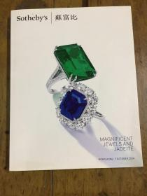 MAGNIFICENT JEWELS AND JADEITE  Sotheby`s苏富比
