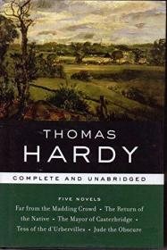 现货 Thomas Hardy: Five Novels 英文原版 托马斯·哈代 5本小说合集  Far From The Madding Crowd, The Return of the Native, The Mayor of Casterbridge, Tess of the d'Urbervilles, Jude the Obscure