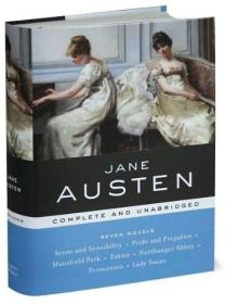 英文原版 简·奥斯汀 全集 Sense and Sensibility, Pride and Prejudice, Mansfield Park, Emma, Northanger Abbey, Persuasion, Lady Susan  by Jane Austen