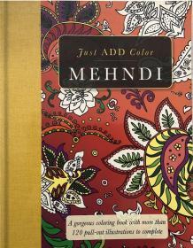 骞宠Mehndi: Gorgeous coloring books with more than 120 pull-out illustrations to complete Mehndi:鍗庝附鐨勫僵鑹蹭功绫嶏紝鏈�120澶氬箙鎻掑浘闇�瑕佸畬鎴�