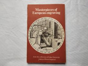 英文原版 欧洲版画精选 masterpieces of european engraving