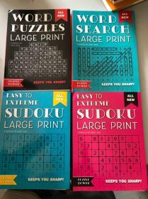 WORD PUZZIES·LARGE PRINT ·BAISY SEAL【4册·活页装】