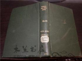 原版英法德意等外文  UNIVERSITY HIGH SCHOOL JOURNAL  18-19 NOV JUNE1939-41 小16开硬精装