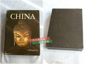 英文原版中国历史与艺术盒装两卷China: The Horizon History of China/The Horizon Book of the Arts of China,书画,瓷器,佛像等