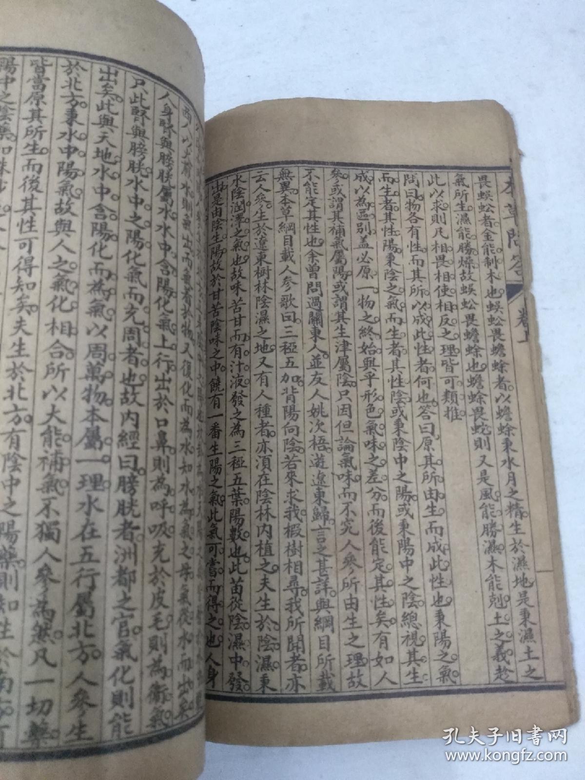 光绪34年线装本(本草问答)上下卷