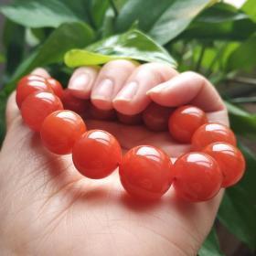 純天然頂級南紅瑪瑙手鏈,溫潤無比堪比羊脂紅玉手鏈,極品南紅瑪瑙手鏈,可遇不可求值得永久收藏