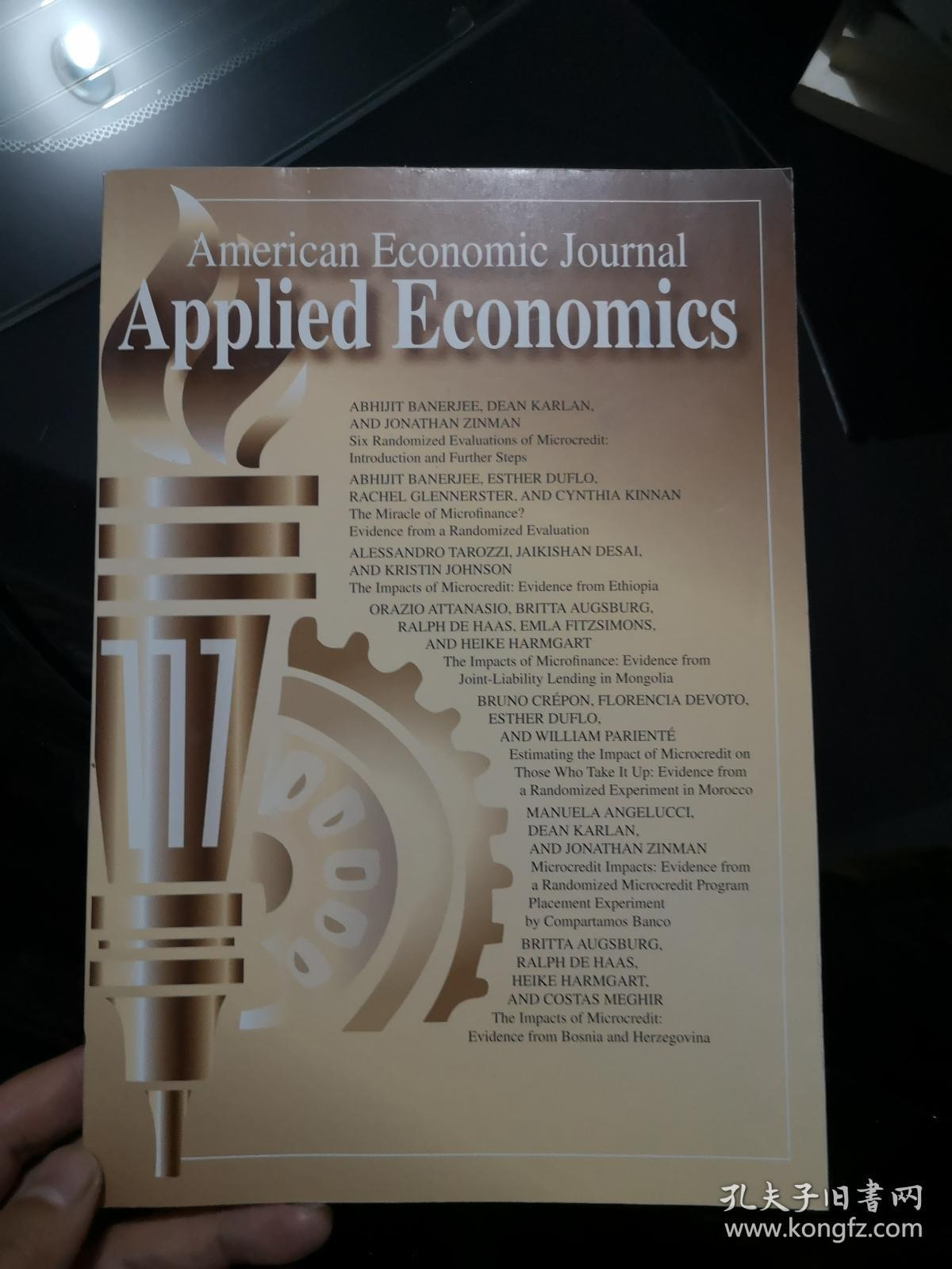 American Economic Journal Applied Economics(2015年1月)