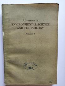 Advances in ENVIRONMENTAL SCIENCE AND TECHNOLOGY  Volume 3  (英文原版  环境科学技术进展第3卷   馆藏书)