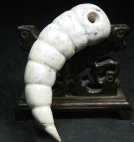 古董紅山文化紅山玉器紅山雞骨白玉蠶,器型特殊非常難得,包漿醇厚,沁色自然,極品收藏,可遇不可求,絕世珍品