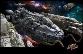 星河战队 飞船 模型 1/700 49厘米 罗杰杨号 精修版