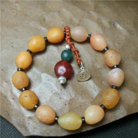 純天然奇石手鏈,多彩黃色,粉色極品罕見瑪瑙,頂級艷麗瑪瑙原石手鏈,色彩純正精品戈壁瑪瑙手鏈,瑪瑙奇石手鏈,精品薈萃成一串,收藏珍品
