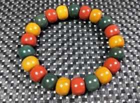 純天然頂級多彩瑪瑙手鏈,戈壁綠瑪瑙,紅瑪瑙,紫瑪瑙,黃瑪瑙多彩多寶手鏈,大顆粒極為罕見難得,收藏珍品