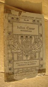 Julius Cæsar (Edited with notes and questions by Thomas C. Blaisdell)  英文原版 1917年出版