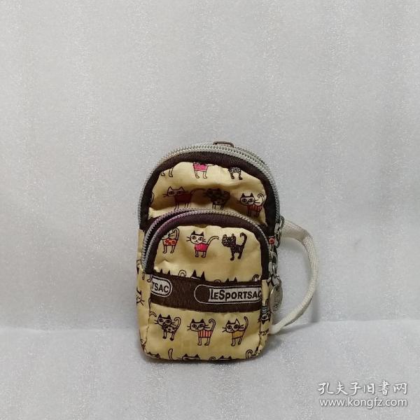 萌猫图案小钱包(正常使用。白色松紧带没有弹性了)