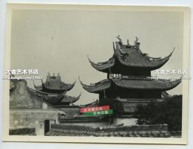 民國上海佛教龍華寺古建筑樓宇老照片