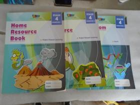 classroom activity book stage4 、home resource book 英文版 3本合售