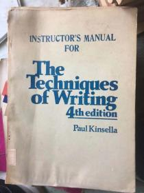 instructors manual for the techniques of writing