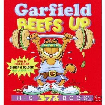 英文原版 加菲猫漫画 Garfield Beefs Up: His 37th Book