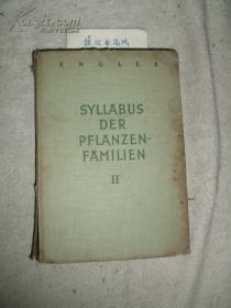 《Syllabus Der Pflanzenfamilien Ⅱ》(16开精装本) 『南京大学教授:耿以礼.耿伯介父子旧藏』