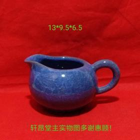 Fair cup shape, noble and elegant, round dark blue flower pot