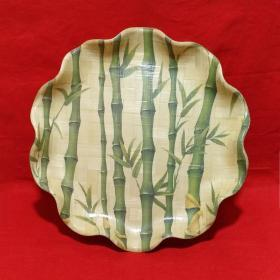 Vivid charm, verdant and lovely Bamboo pattern, lotus border Bamboo old plate