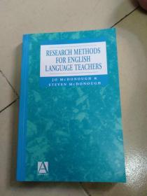 RESEARCH  METHODS   FOR  ENGLISH   LANGUAGE  TEACHERS(现货实拍如图)