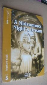 (TOP READERS level 5 TEACHER'S BOOK) A Midsummer Night's Dream (Book including students book,multilingual glossary,Audio CD,teacher's book) 24K英文原版书带CD 塑封未折