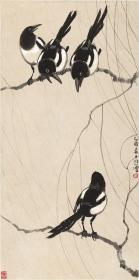 Modern Times-Xu Beihong-Four Ink Paintings-HD Reproductions