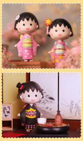 樱桃小丸子和服盲盒潮流玩具时尚模型手办人偶日漫周边正版52toys