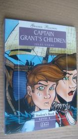 (Graded readers student's book level 4) CAPTAIN GRANT'S CHILDREN (Pack including Reader.Activity Book.Audio CD) 24K书带CD 《格兰特船厂的孩子》塑封未折