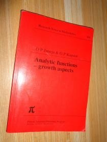 Analytic Functions-growth aspects