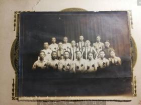 民国时期山西体育运动队合影,可能是参加完全国运动会时的合影,体育收藏