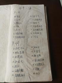 1964年手写本经折装  杨拳拳谱