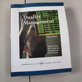 quality management【third edition】【大16开英文原版书附光盘】