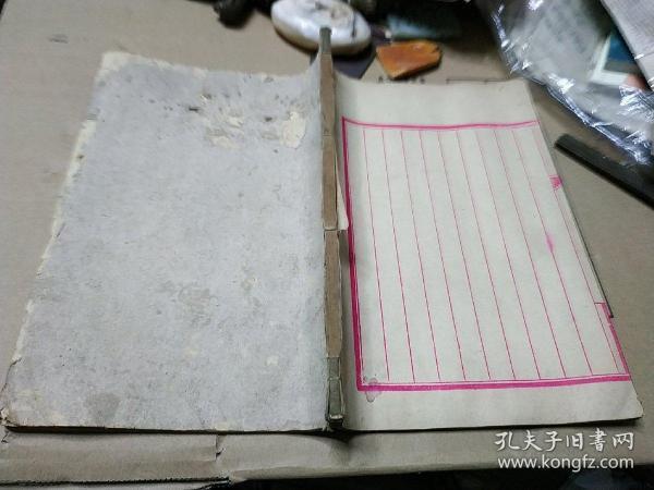 故纸,纸文化,花笺纸文化:清代大开本10列空白册笺,约50个筒子页,纸质上佳,干净整齐,是信札手札用纸的好纸张。