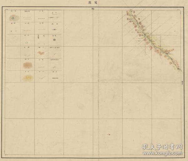 清末1887年《长治襄垣县夏店老地图》图题为《夏店》,请看当年常隆镇,今日常隆村。原图高清复制,裱框后,风貌佳,长治襄垣地理地名历史变迁史料。