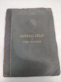 1857年 General atlas of the world 超珍贵地图集 46cm*33cm