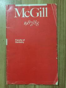 McGill Faculty of Dentistry 1987/88