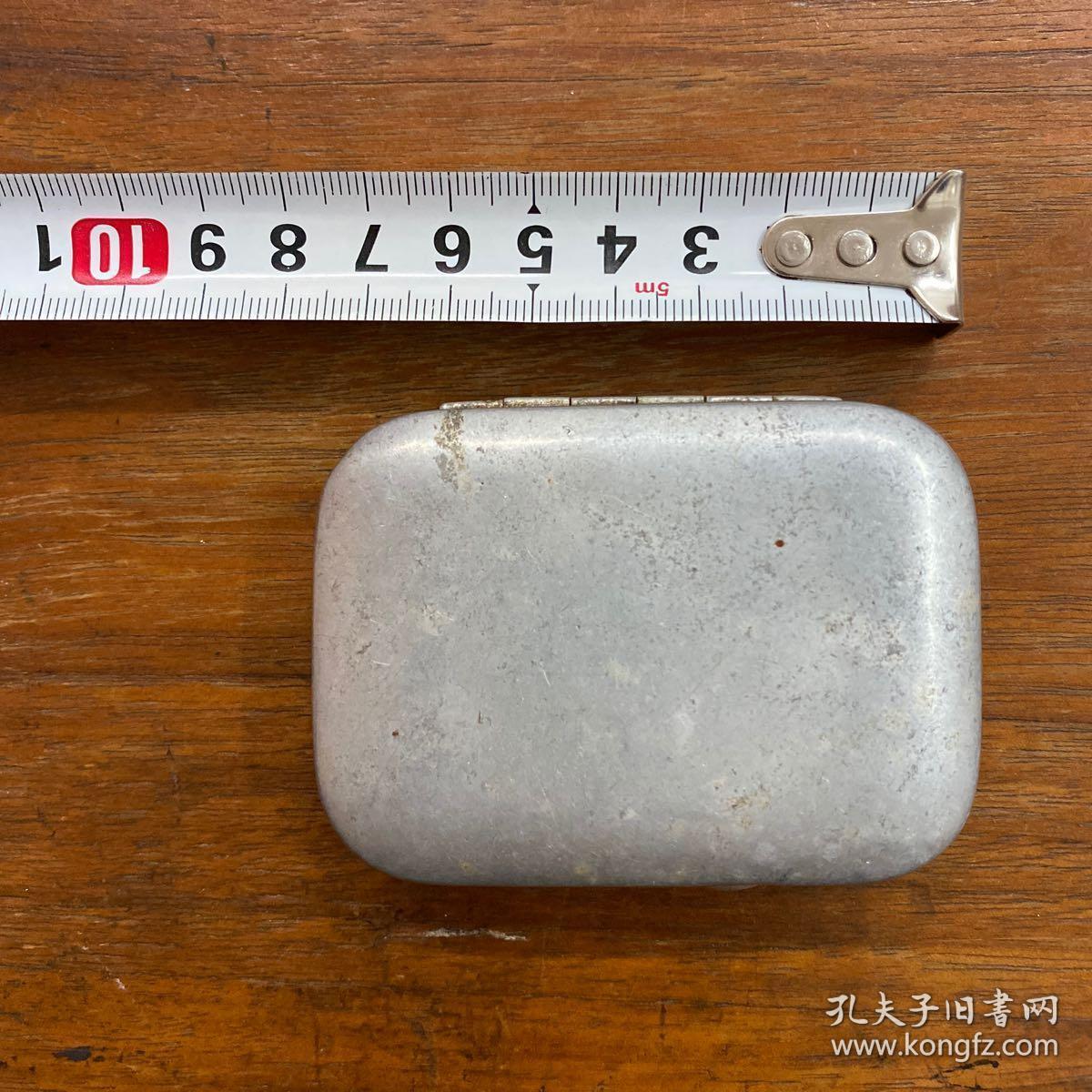 解放初期 医用酒精棉球收纳盒 老物件 铝盒