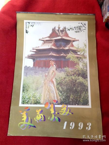 怀旧收藏挂历年历《1993年美轮美奂》12月全北京美术摄影出版社