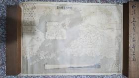 清末时期青岛胶州湾地图老纸本印刷(大正初期)55*77cm