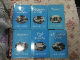 现货 6本合售 Jane Austen Complete Works  Set of 6 hardback volumes. Guild Publishing  – 1979 简·奥斯汀 小说全集 Sense and Sensibility | Pride and Prejudice | Mansfield Park | Emma | Northanger Abbey | Persuasion