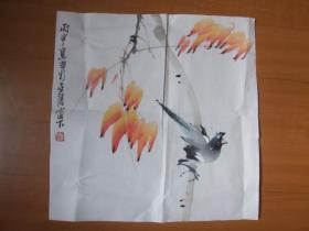 江苏美协会员,傅抱石弟子丁惠兴鱼小品:花鸟