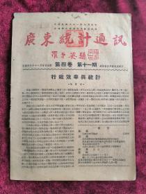 广东统计通讯 第四卷 第十一期 民国35年 包邮挂刷